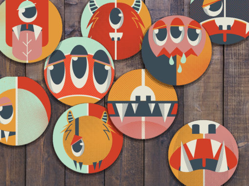 Monsters – Smartphone Stickers